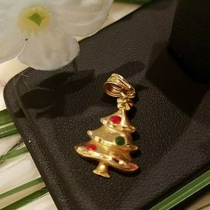 14K YELLOW GOLD CHRISTMAS TREE CHARM